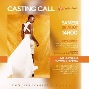 S.O.B Fashion Week 2017 Cotonou – Casting call