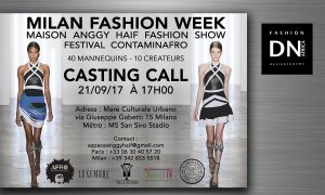 Fashion Show Festival Contaminafro Casting call