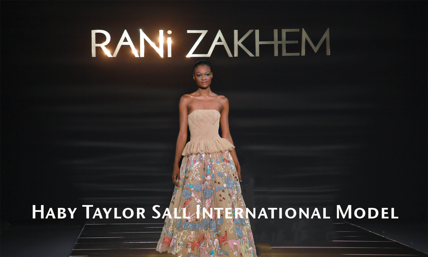 AFRICAN FASHION STYLE MAGAZINE - PARIS FASHION WEEK COUTURE BY RANI ZAKHEM - MODEL HAY TAYLOR SALL - RP MEPHISTOPHELES - DN AFRICA -STUDIO 24 NIGERIA