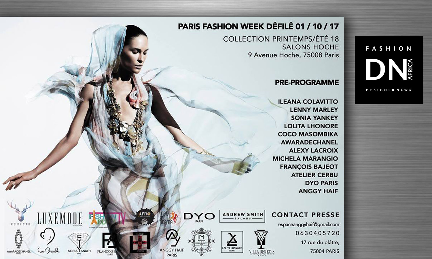 DNAFRICA-DN AFRICA-PARIS FASHION WEEK-SS 18