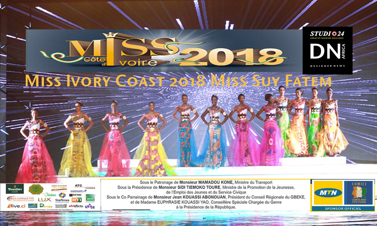 MISS COTE D'IVOIRE 2018 -AFRICAN FASHION STYLE MAGAZINE -MISS IVORY COAST 2018 - MISS MARIE-DANIELLE SUY FATEM - DN AFRICA - STUDIO 24 NIGERIA