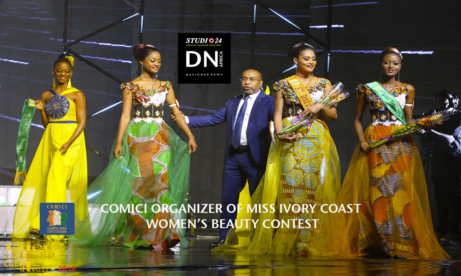 AFRICAN FASHION STYLE MAGAZINE -MISS IVORY COAST 2018 - MISS MARIE-DANIELLE SUY FATEM - COMICI VICTOR YAPOBI - DN AFRICA - STUDIO 24 NIGERIA