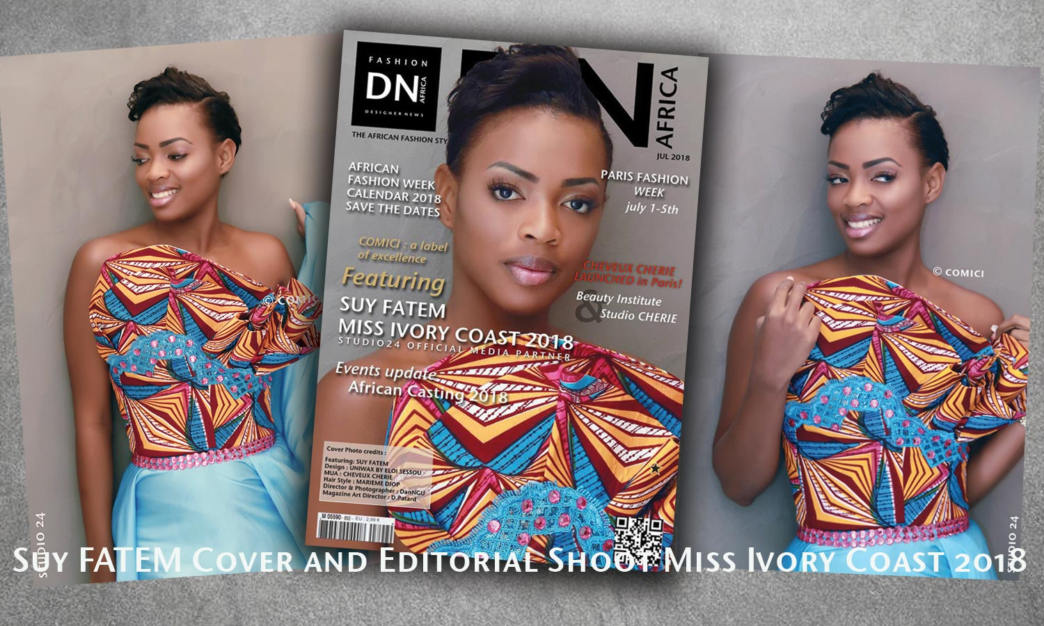 MISS COTE D'IVOIRE 2018 -AFRICAN FASHION STYLE MAGAZINE - MISS IVORY COAST 2018 - COVER MISS MARIE-DANIELLE SUY FATEM - DN AFRICA - STUDIO 24 NIGERIA - CHEVEUX CHERIE HAIRSTYLE MUA