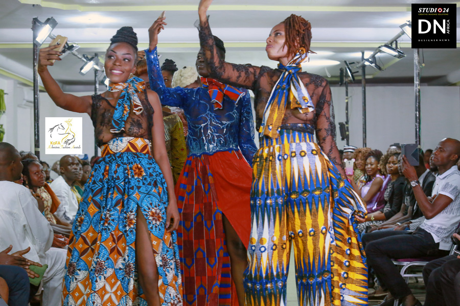 AFRICA KOFA 2nd Edition Organized by Hal Ebene Kobourou Fashion Awards from Parakou (Benin) – Designer KAMISSOKO from Ivory Coast by Ibrahim KAMISSOKO - Model Coulibali Sfeffanie from Burkina – Exclusive contents for DN AFRICA and STUDIO 24 NIGERIA