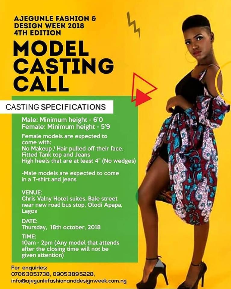 AFRICAN FASHION STYLE MAGAZINE - Ajegunle Fashion & Design Week Model Casting Call - Lagos Nigeria - Media Partner DN MAG, DN AFRICA-STUDIO 24 NIGERIA - STUDIO 24 INTERNATIONAL
