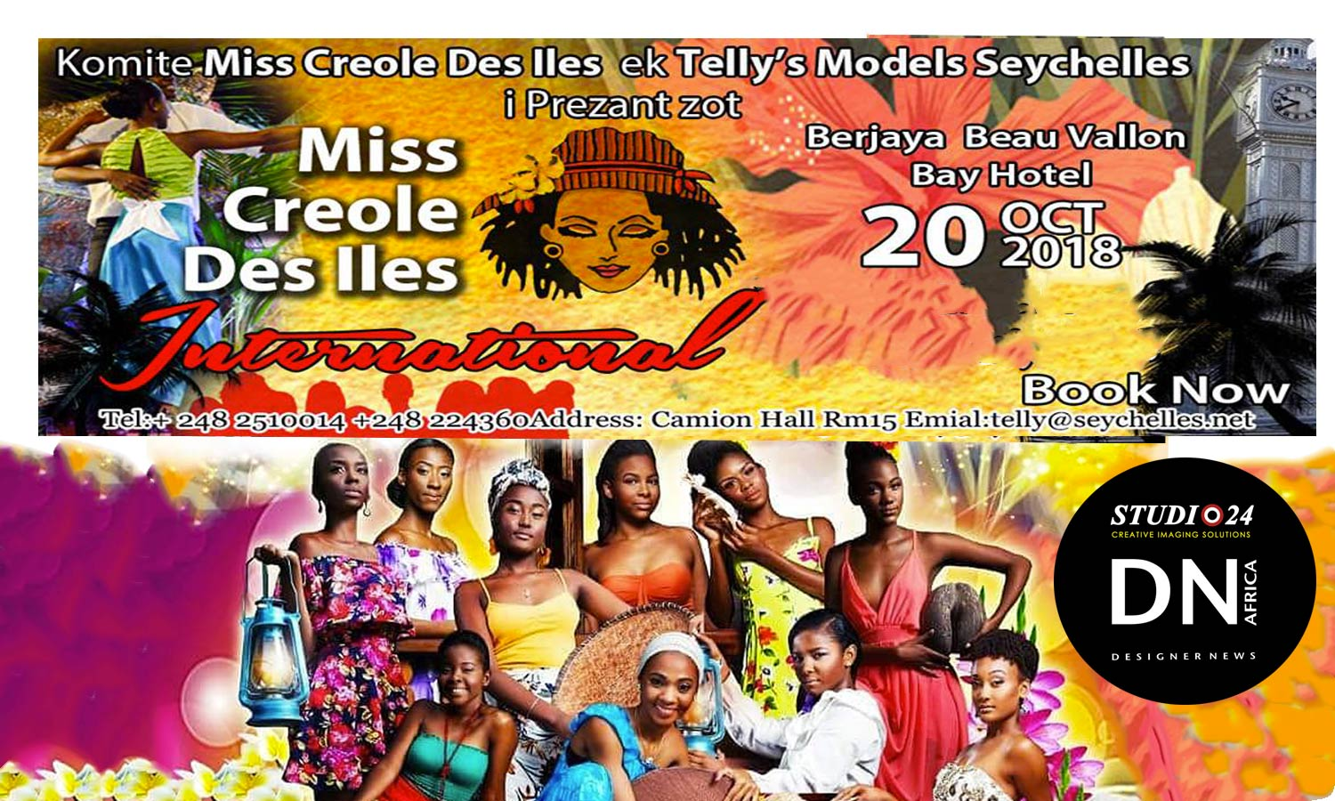 AFRICAN FASHION STYLE MAGAZINE - Miss Creole International Beauty Pageant by Tellymodellingagency Telly - Seychelles 2018 - Media Partner DN MAG, DN AFRICA -STUDIO 24 NIGERIA - STUDIO 24 INTERNATIONAL