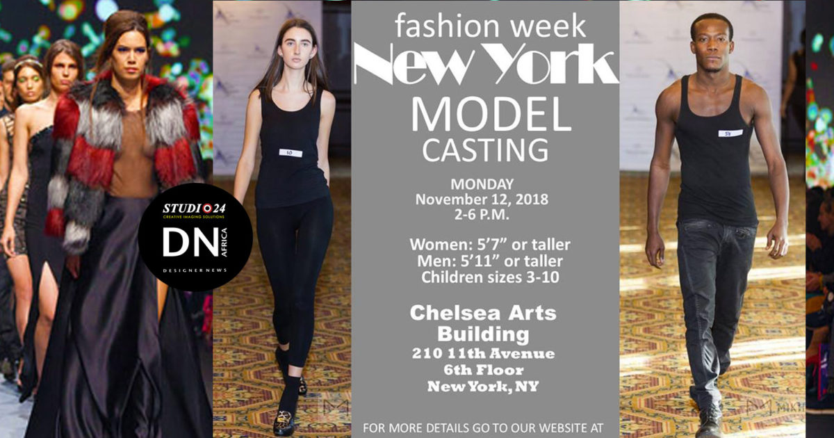 AFRICAN FASHION STYLE MAGAZINE - NEW-YORK-FASHION-WEEK-MODEL-CASTING - Media Partner DN MAG, DN AFRICA -STUDIO 24 NIGERIA - STUDIO 24 INTERNATIONAL