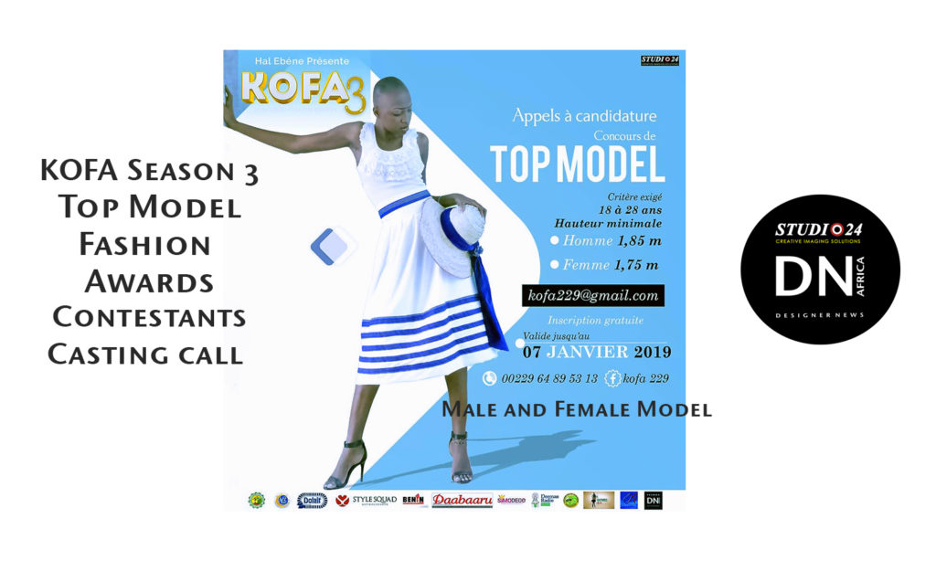 Kobourou Fashion Awards Casting Model Contestant
