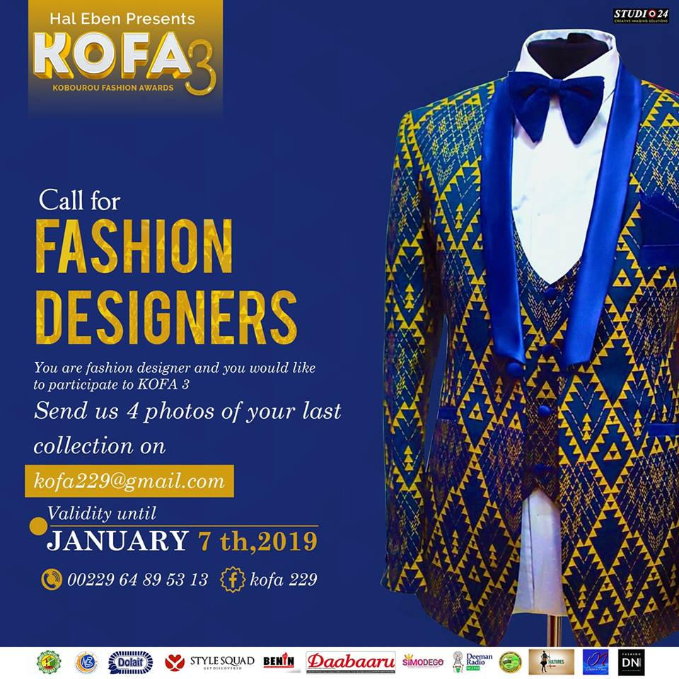 Kobourou Fashion Awards KOFA SEASON 3 ORGANIZER HAL EBENE LOCATION PARAKOU BENIN