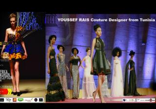 YOUSSEF RAIS from Tunisia - with AFRICA FASHION RECEPTION PARIS 2018 - SEASON IV at UNESCO - Model Anna FAYE - Organizer Lexy Mojo-Eyes