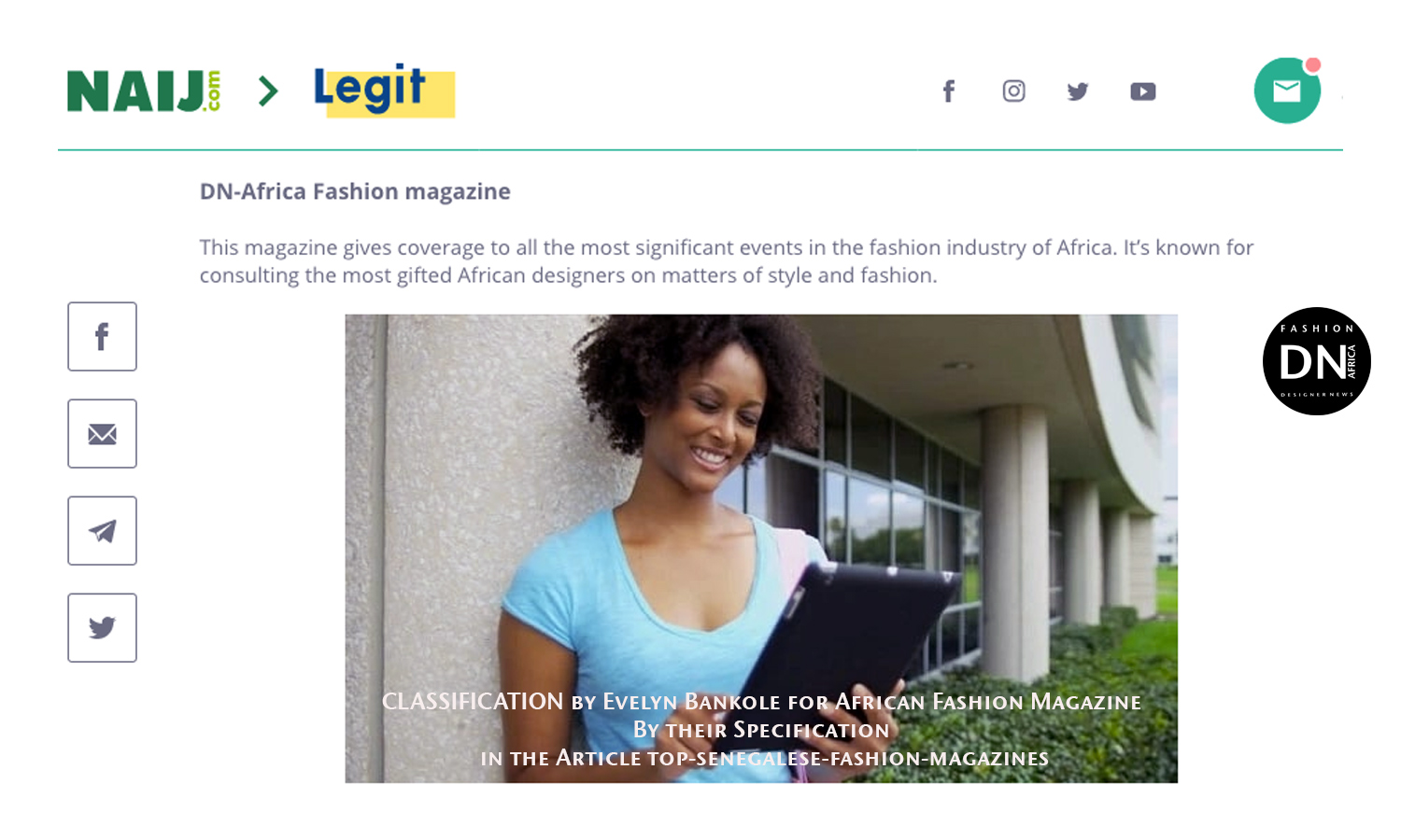 AFRICAN FASHION STYLE MAGAZINE - DN-Africa-Fashion-magazine-Articl-by-Evelyn-Bankole-Read-more-on-legit.ng-top-senegalese-fashion-magazines - Official Media Partner DN AFRICA -STUDIO 24 NIGERIA - STUDIO 24 INTERNATIONAL - Ifeanyi Christopher Oputa MD AND CEO OF COLVI LIMITED AND STUDIO 24 - CAMERA TEAM JAMWAXX