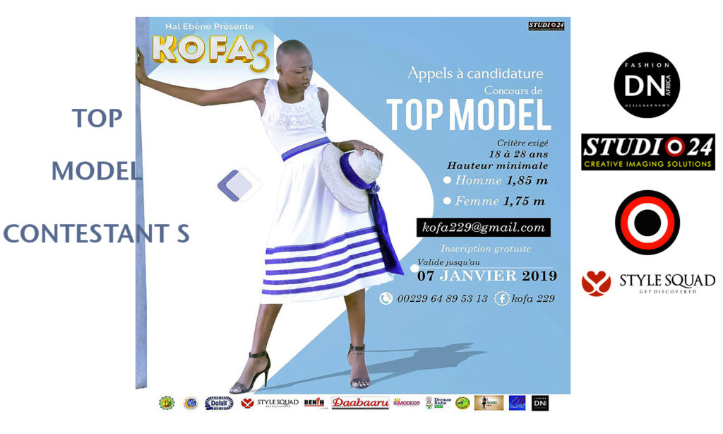 AFRICAN FASHION STYLE MAGAZINE – KOFA-3-TOP-MODEL-CONTESTANTS-2019-PARAKOU-BENIN-ORGANIZER HAL EBENE- Official Media Partner DN AFRICA -STUDIO 24 NIGERIA – STUDIO 24 INTERNATIONAL – Ifeanyi Christopher Oputa MD AND CEO OF COLVI LIMITED AND STUDIO 24