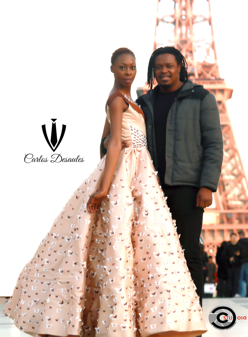 AFRICAN FASHION STYLE MAGAZINE -  Designer Carlos DESAULES - Collection Capsule 2019 - Model Emmanuela Galoppe -  Official Media Partner DN AFRICA - STUDIO 24 NIGERIA - STUDIO 24 INTERNATIONAL - Ifeanyi Christopher Oputa MD AND CEO OF COLVI LIMITED AND STUDIO 24 - CHEVEUX CHERIE and Cheveux Cherie studio STUDIO BY MARIEME DUBOZ- Fashion Editor Edith DALIGOU