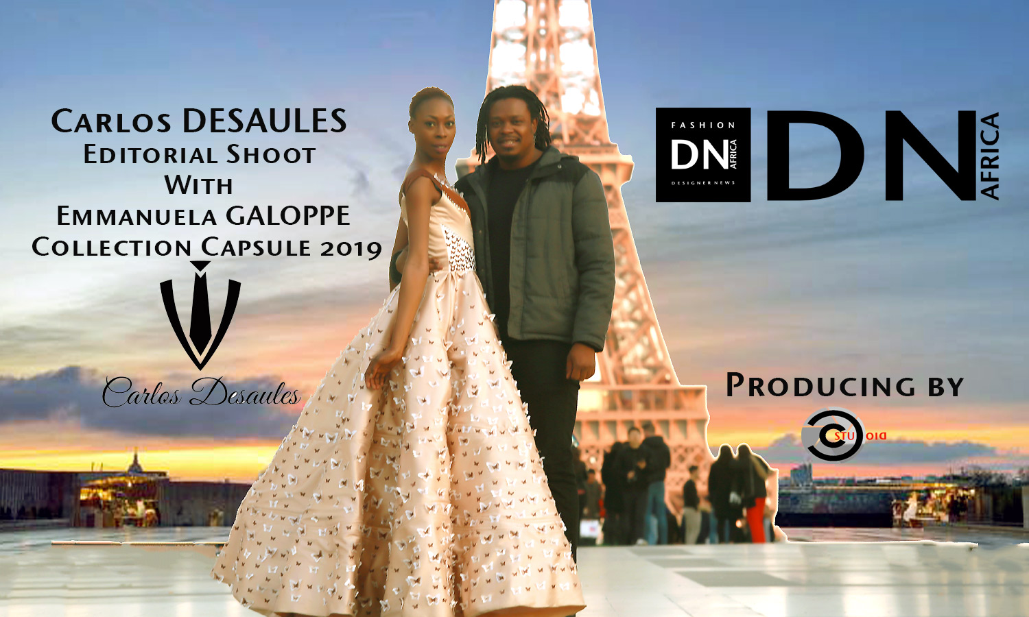 AFRICAN FASHION STYLE MAGAZINE - Designer Carlos DESAULES - Collection Capsule 2019 - Model Emmanuela Galoppe - Official Media Partner DN AFRICA - STUDIO 24 NIGERIA - STUDIO 24 INTERNATIONAL - Ifeanyi Christopher Oputa MD AND CEO OF COLVI LIMITED AND STUDIO 24 - CHEVEUX CHERIE and CHEVEUX CHERIE STUDIO BY MARIEME DUBOZ- Fashion Editor Edith DALIGOU