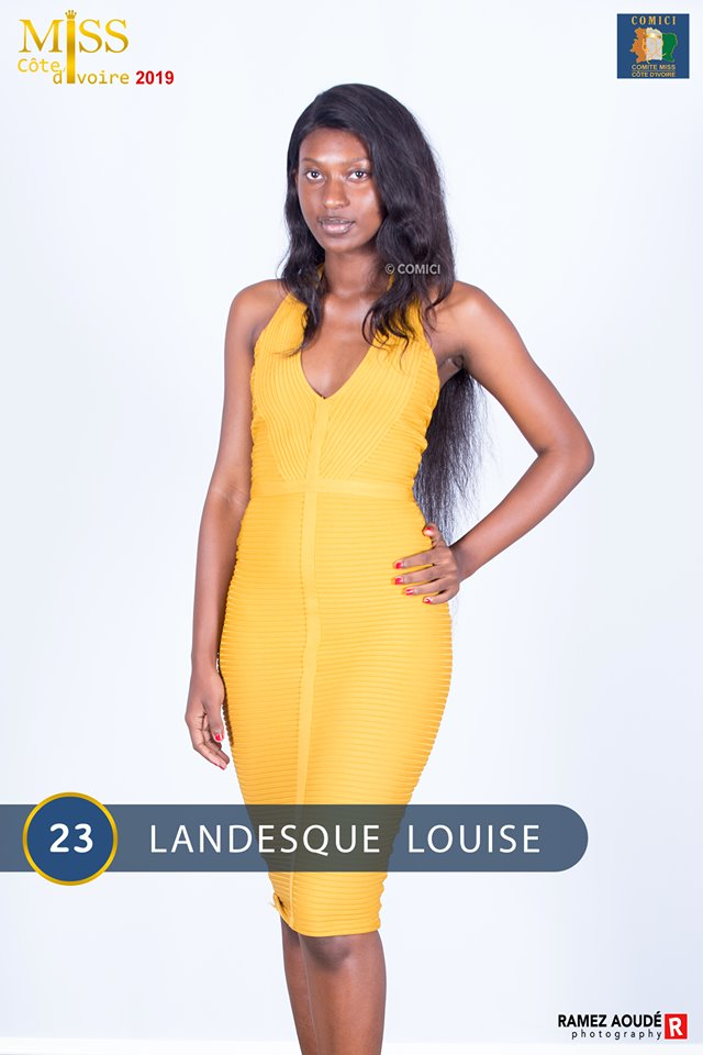 AFRICAN FASHION STYLE MAGAZINE - MISS CI 2019 - Miss KONE ASSETOU - Contestant N° 23 : LANDESQUE LOUISE - MISS CI 8 Organize by Victor YABOBI - Location Sofitel Hotel Ivoire palais des Confgres - Official Media Partner DN AFRICA - STUDIO 24 NIGERIA - STUDIO 24 INTERNATIONAL - Ifeanyi Christopher Oputa MD AND CEO OF COLVI LIMITED AND STUDIO 24 - CHEVEUX CHERIE and CHEVEUX CHERIE STUDIO BY MARIEME DUBOZ- Fashion Editor Nahomie NOOR COULIBALY