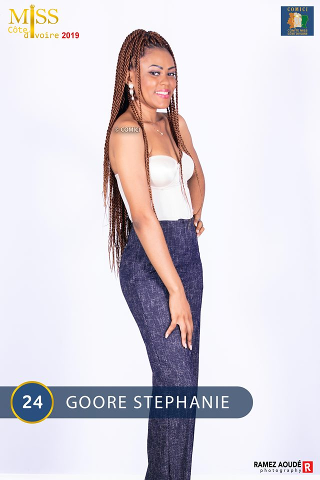 AFRICAN FASHION STYLE MAGAZINE - MISS CI 2019 - Miss GOORE STEPHANIE- Contestant N° 24 : GOORE STEPHANIE - MISS CI 8 Organize by Victor YABOBI - Location Sofitel Hotel Ivoire palais des Confgres - Official Media Partner DN AFRICA - STUDIO 24 NIGERIA - STUDIO 24 INTERNATIONAL - Ifeanyi Christopher Oputa MD AND CEO OF COLVI LIMITED AND STUDIO 24 - CHEVEUX CHERIE and CHEVEUX CHERIE STUDIO BY MARIEME DUBOZ- Fashion Editor Nahomie NOOR COULIBALY