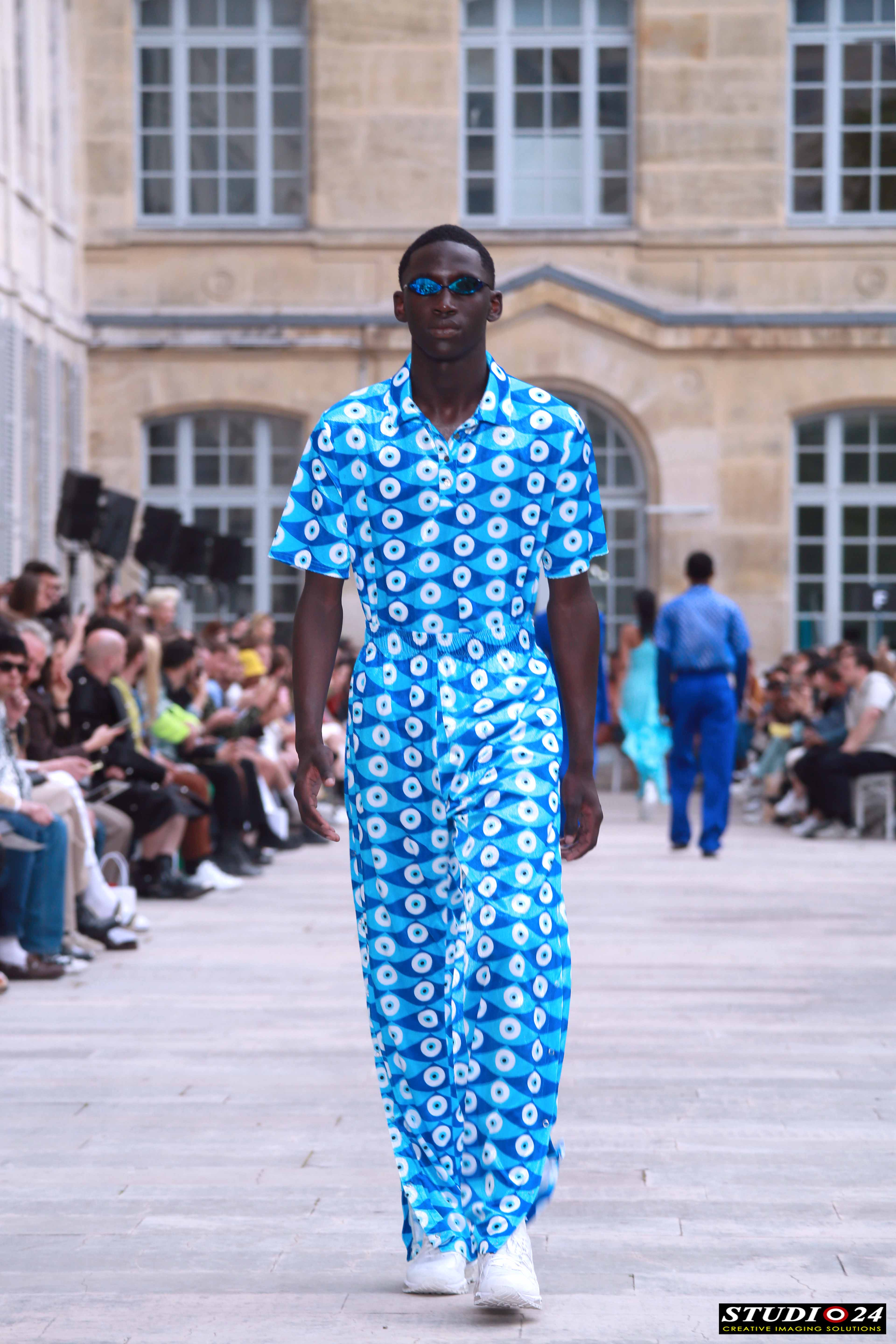AFRICAN FASHION STYLE MAGAZINE – GmbH Show of Paris Fashion Week Men's SS20 - designers Serhat Isik and Benjamin Alexander Huseby- PR Robin Meason Founder and CEO of RITUAL PROJECTS - Photographer DAN NGU - Official Media Partner DN AFRICA - STUDIO 24 NIGERIA - STUDIO 24 INTERNATIONAL - Ifeanyi Christopher Oputa MD AND CEO OF COLVI LIMITED AND STUDIO 24 - CHEVEUX CHERIE and CHEVEUX CHERIE STUDIO BY MARIEME DUBOZ- Fashion Editor Nahomie NOOR COULIBALY