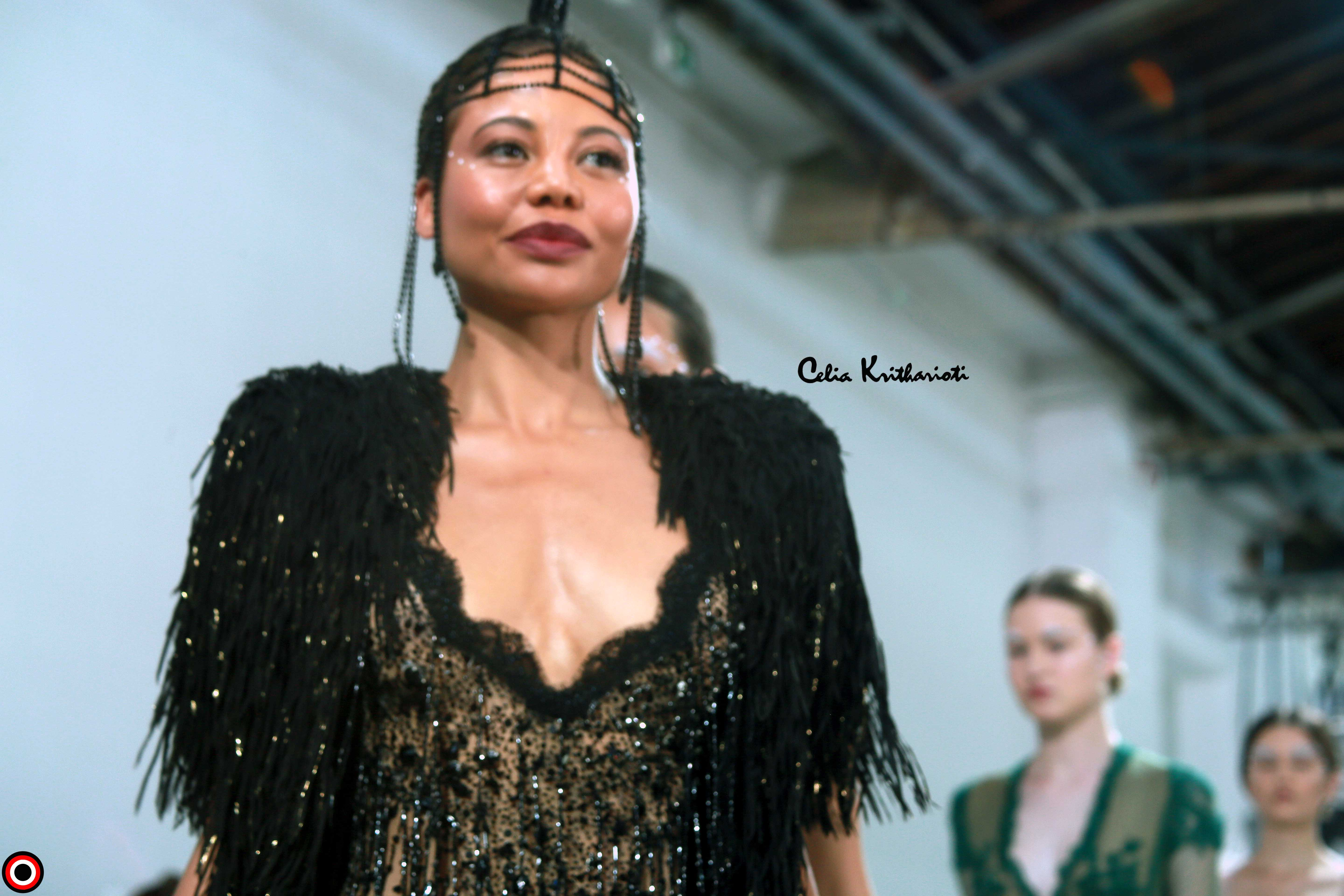 AFRICAN FASHION STYLE MAGAZINE – Celia KRITHARIOTI PFW - Collection Couture Fall Winter 2019-20 - Photographer DAN NGU - Official Media Partner DN AFRICA - STUDIO 24 NIGERIA - STUDIO 24 INTERNATIONAL - Ifeanyi Christopher Oputa MD AND CEO OF COLVI LIMITED AND STUDIO 24 - CHEVEUX CHERIE