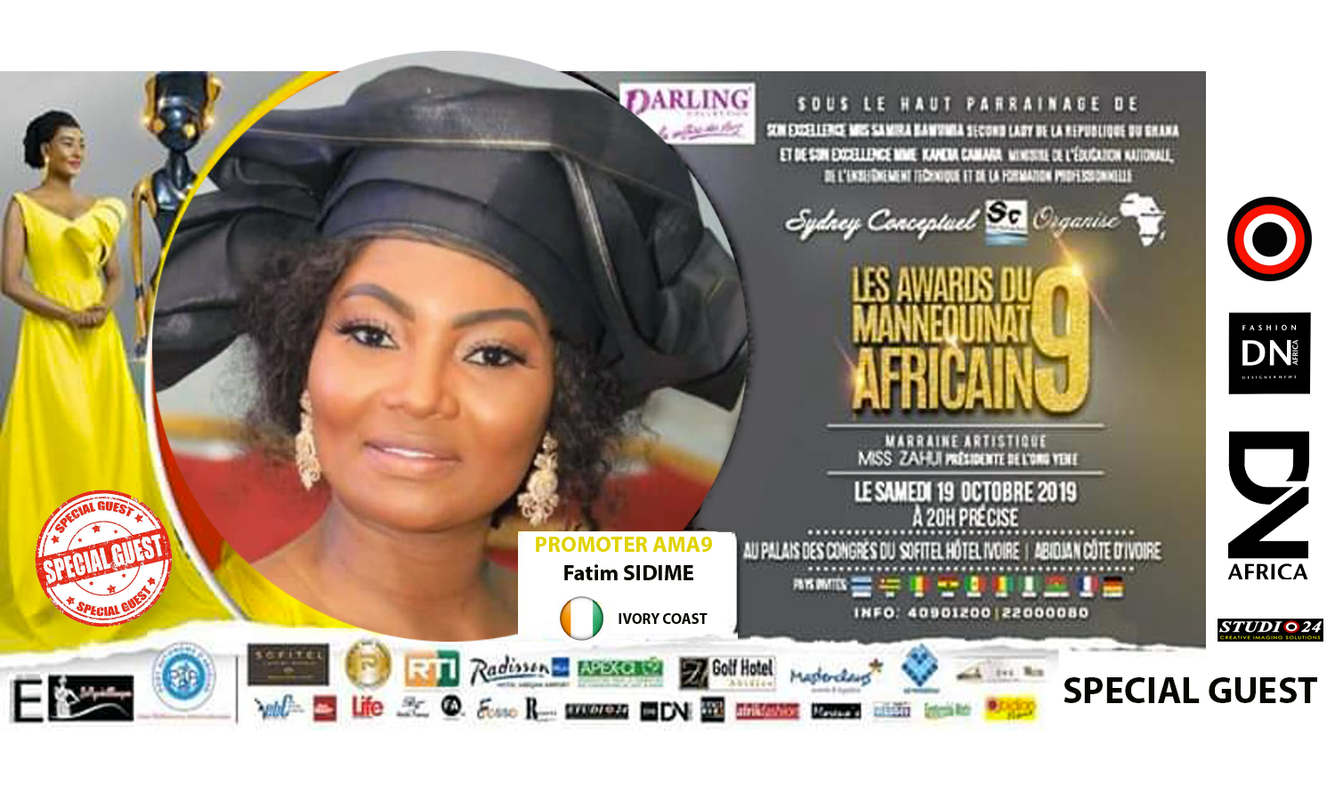 AFRICAN FASHION STYLE MAGAZINE - AMA 9 by Fatim SIDIME - LES-AWARDS-DU-MANNEQUINNAT-AFRICAIN-EDITION-9-2019 - Event organiser Sydney conceptuel - Special Guest Her excellence Ms. Samira Bawumi, Ghana's Vice President - Photographer DAN NGU - Official Media Partner DN AFRICA - STUDIO 24 NIGERIA - STUDIO 24 INTERNATIONAL - Ifeanyi Christopher Oputa MD AND CEO OF COLVI LIMITED AND STUDIO 24 - CHEVEUX CHERIE and CHEVEUX CHERIE STUDIO BY MARIEME DUBOZ- Fashion Editor Nahomie NOOR COULIBALY