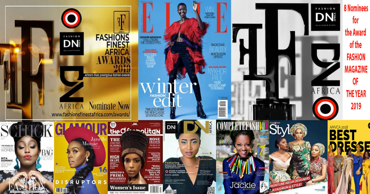AFRICAN FASHION STYLE MAGAZINE - FASHION FINEST AFRICA - ELLE-South-Africa-received-the-Award-of-the FASHION-MAGAZINE-OF-THE-YEAR - DN AFRICA - Cover Nahomie Noor Coulibaly - Nominee in the Category of Best Magazine of the Year - PR Indirâh Events and Communication - Photographer DAN NGU - Official Media Partner DN AFRICA - STUDIO 24 NIGERIA - STUDIO 24 INTERNATIONAL - Ifeanyi Christopher Oputa MD AND CEO OF COLVI LIMITED AND STUDIO 24 - CHEVEUX CHERIE and CHEVEUX CHERIE STUDIO BY MARIEME DUBOZ- Fashion Editor Nahomie NOOR COULIBALY