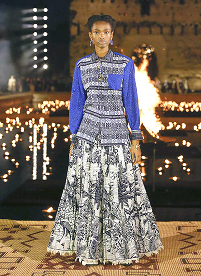 AFRICAN FASHION STYLE MAGAZINE - Pathé'O honored during Dior Cruise Show 2020 show in Marrakech - Collection Croisière 2020 - Location El Badi Palace - PR Indirâh Events and Communication - Photographer DAN NGU - Official Media Partner DN AFRICA - STUDIO 24 NIGERIA - STUDIO 24 INTERNATIONAL - Ifeanyi Christopher Oputa MD AND CEO OF COLVI LIMITED AND STUDIO 24 - CHEVEUX CHERIE and CHEVEUX CHERIE STUDIO BY MARIEME DUBOZ- Fashion Editor Nahomie NOOR COULIBALY