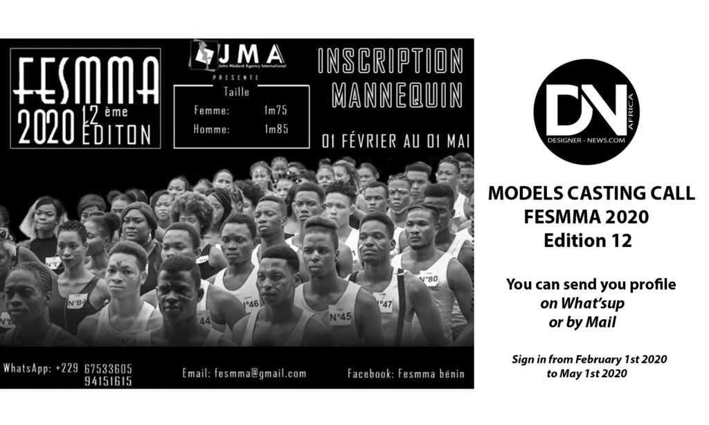 FESMMA-BENIN-2020-Edition-12-Model-Casting-Call – Founder & Organizer John MEDARD – Location Cotonou (Benin)