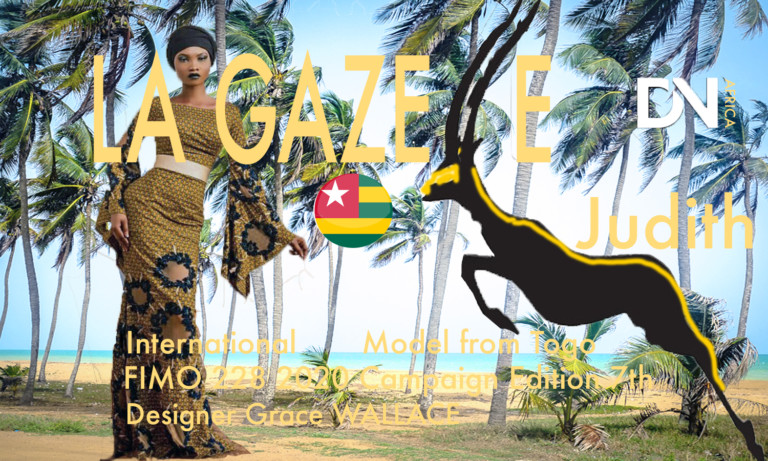 """AFRICAN FASHION STYLE MAGAZINE - Judith LaGazelle International Model from Togo Judith Akossiwa Déla EGBEVOR alias """"Judith Lagazelle Fimo 228 Campaign Shoot - Edition 7th 2020 - Lome (Togo) Designer Grace WALLACE - VLISCO Editorial Shoot - Picture by Twinsdntbeg- Photographer DAN NGU - Media Partner DN AFRICA - STUDIO 24 NIGERIA - STUDIO 24 INTERNATIONAL - Ifeanyi Christopher Oputa MD AND CEO OF COLVI LIMITED AND STUDIO 24 - CHEVEUX CHERIE and CHEVEUX CHERIE STUDIO BY MARIEME DUBOZ- Fashion Editor Nahomie NOOR COULIBALY"""