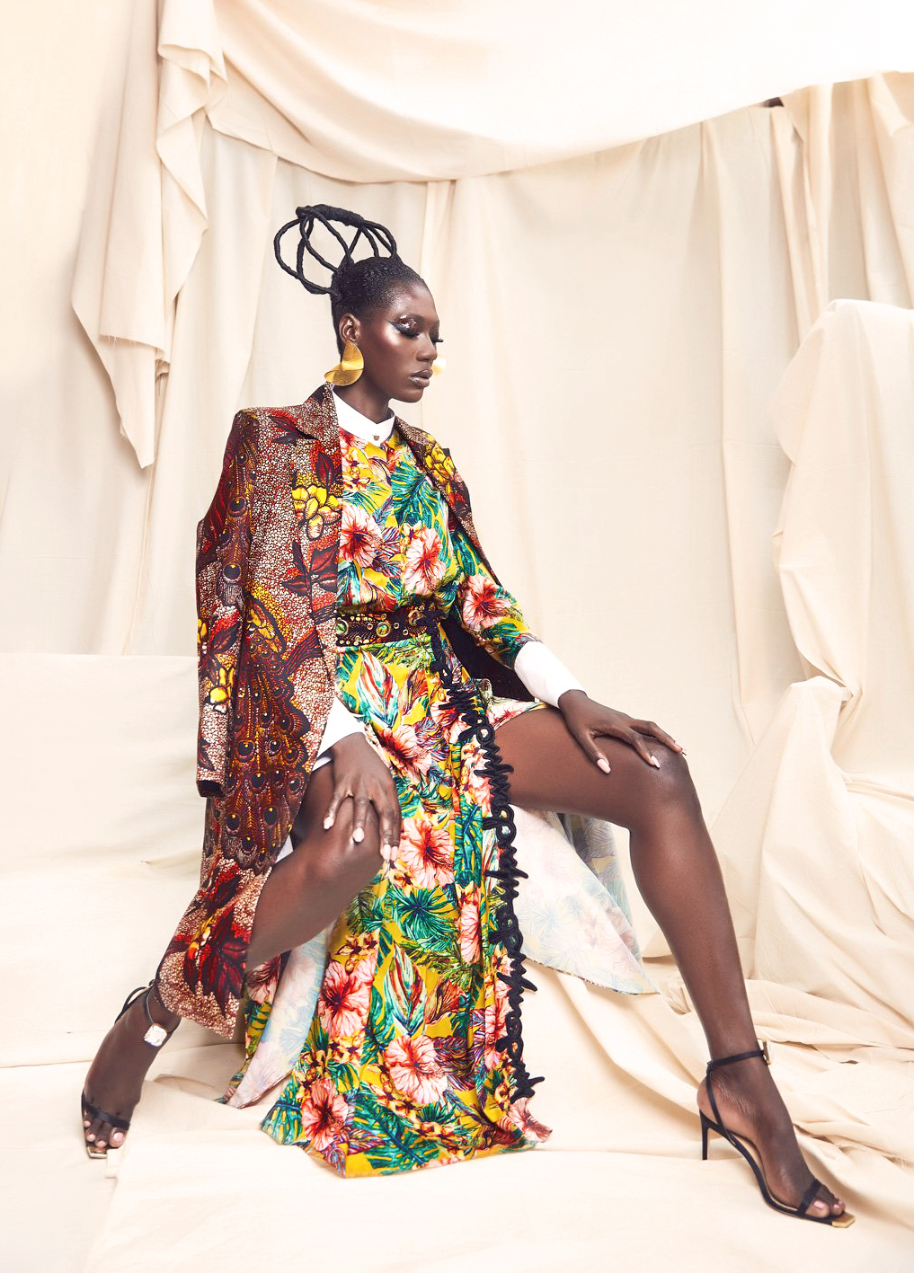 AFRICAN FASHION STYLE MAGAZINE - She is King AW19 by Christie Brown  - Look book with  Koro Amy International Model from Ivory Coast - Photographer DAN NGU - Media Partner DN AFRICA - STUDIO 24 NIGERIA - STUDIO 24 INTERNATIONAL - Ifeanyi Christopher Oputa MD AND CEO OF COLVI LIMITED AND STUDIO 24 - CHEVEUX CHERIE and CHEVEUX CHERIE STUDIO BY MARIEME DUBOZ- Fashion Editor Nahomie NOOR COULIBALY