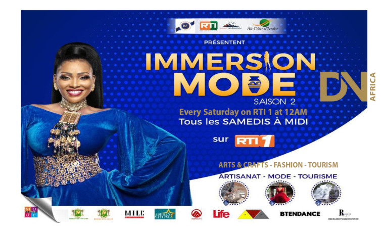 AFRICAN FASHION STYLE MAGAZINE - IMMERSION MODE BY LINE JABER – SEASON 2 - A TELEVISION CULTURAL SHOW - from Ivory Coast for RTI1 - Photographer DAN NGU - Media Partner DN AFRICA - STUDIO 24 NIGERIA - STUDIO 24 INTERNATIONAL - Ifeanyi Christopher Oputa MD AND CEO OF COLVI LIMITED AND STUDIO 24 - Nahomie NOOR COULIBALY